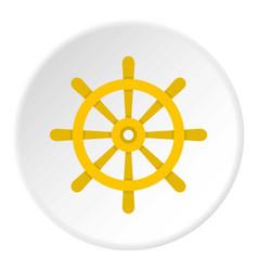 wooden ship wheel icon circle vector image