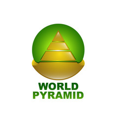 World pyramid logo concept design template in vector