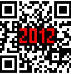 2012 new year counter qr code vector image