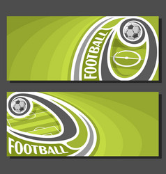 banners for football vector image