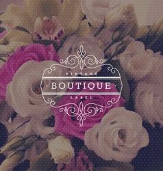 Boutique flourishes logo vector image vector image