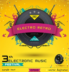 Electro Retro Music Festival vector image vector image