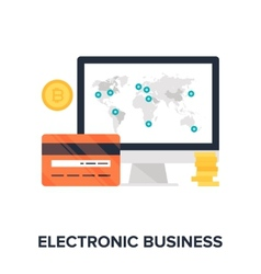 Electronic Business vector image vector image