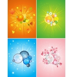 four season set vector image