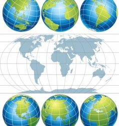 globe map vector image vector image