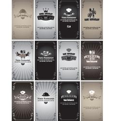 retro cards vector image vector image