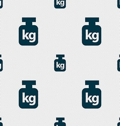 Weight sign Seamless pattern with geometric vector image