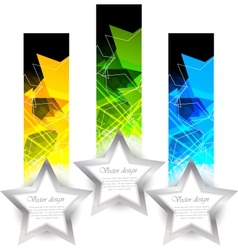 banners with star vector image
