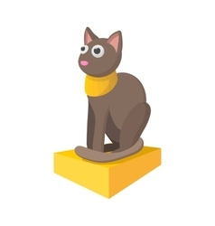 Egyptian cat icon cartoon style vector image vector image