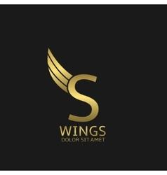 Golden S letter logo vector image vector image