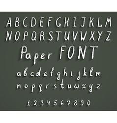 handwriting font vector image vector image