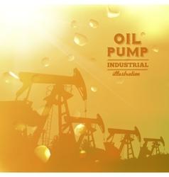 Oil pump jack silhouette design vector image