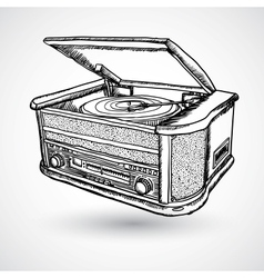 Retro turntable isolated vector image vector image