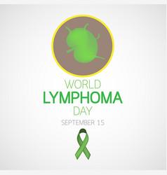 world lymphoma day icon vector image