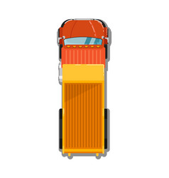commercial tipper top view icon vector image