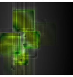 Green squares vector image vector image