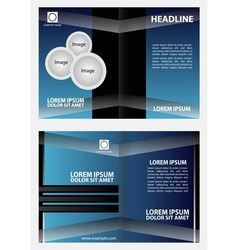 Brochure design template abstract vector image vector image