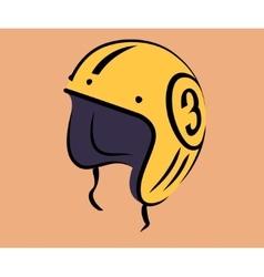 Motorcycle vintage helmet vector image vector image