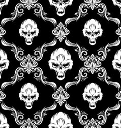 Skull Decorative Pattern vector image vector image