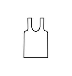 Sleeveless t-shirt icon vector