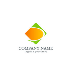 square loop business company logo vector image vector image