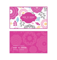 vibrant floral scaterred horizontal frame pattern vector image
