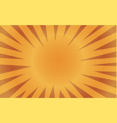 abstract orange sunny striped comic background vector image