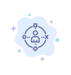 Ambient user technology experience blue icon on vector