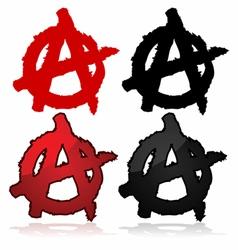 Anarchy symbol vector image