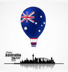australia national day vector image