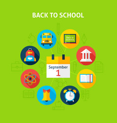 Back to School Infographic Concept vector image