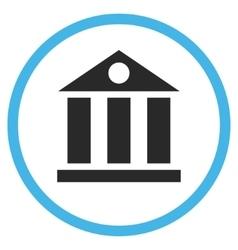 Bank Building Flat Icon vector