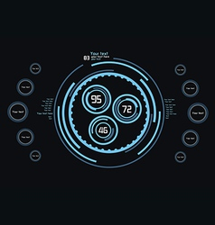 Blue Infographics vector
