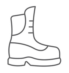Boot thin line icon clothing and footwear shoe vector