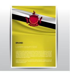 Brunei flag design vector