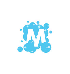 Bubble with initial letter m graphic design vector