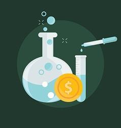 Business concept alchemy experiment vector