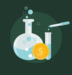 Business concept of alchemy experiment for vector