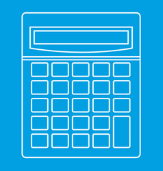 Calculator math device icon outline style vector