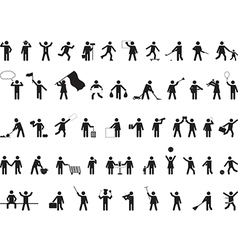 Common pictograph people activities vector