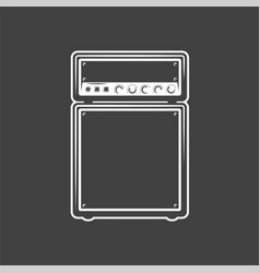 Concert speaker isolated on a white background vector