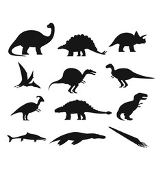 Contour or outline of ancient dinosaurus or dino vector