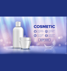 cosmetic bottle ads lotion gel premium vector image
