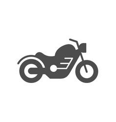 Cruiser motorcycle or motorbike glyph icon vector