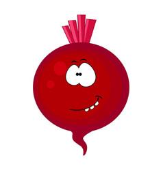 cute cartoon beetroot character vector image