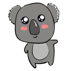 cute little koala on white background vector image