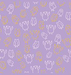 cute owl seamless pattern design vector image