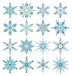 Designer snowflakes vector