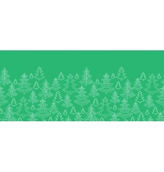 Doodle Christmas trees horizontal seamless pattern vector image
