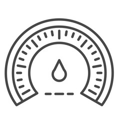 Eco dashboard icon outline style vector